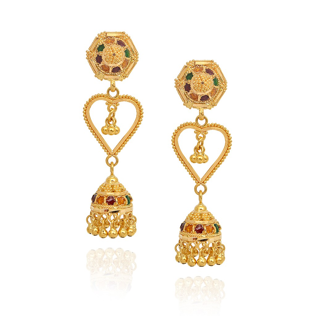 Latest Gold Jhumka Earrings Designs 2016 Best All Earring Photos